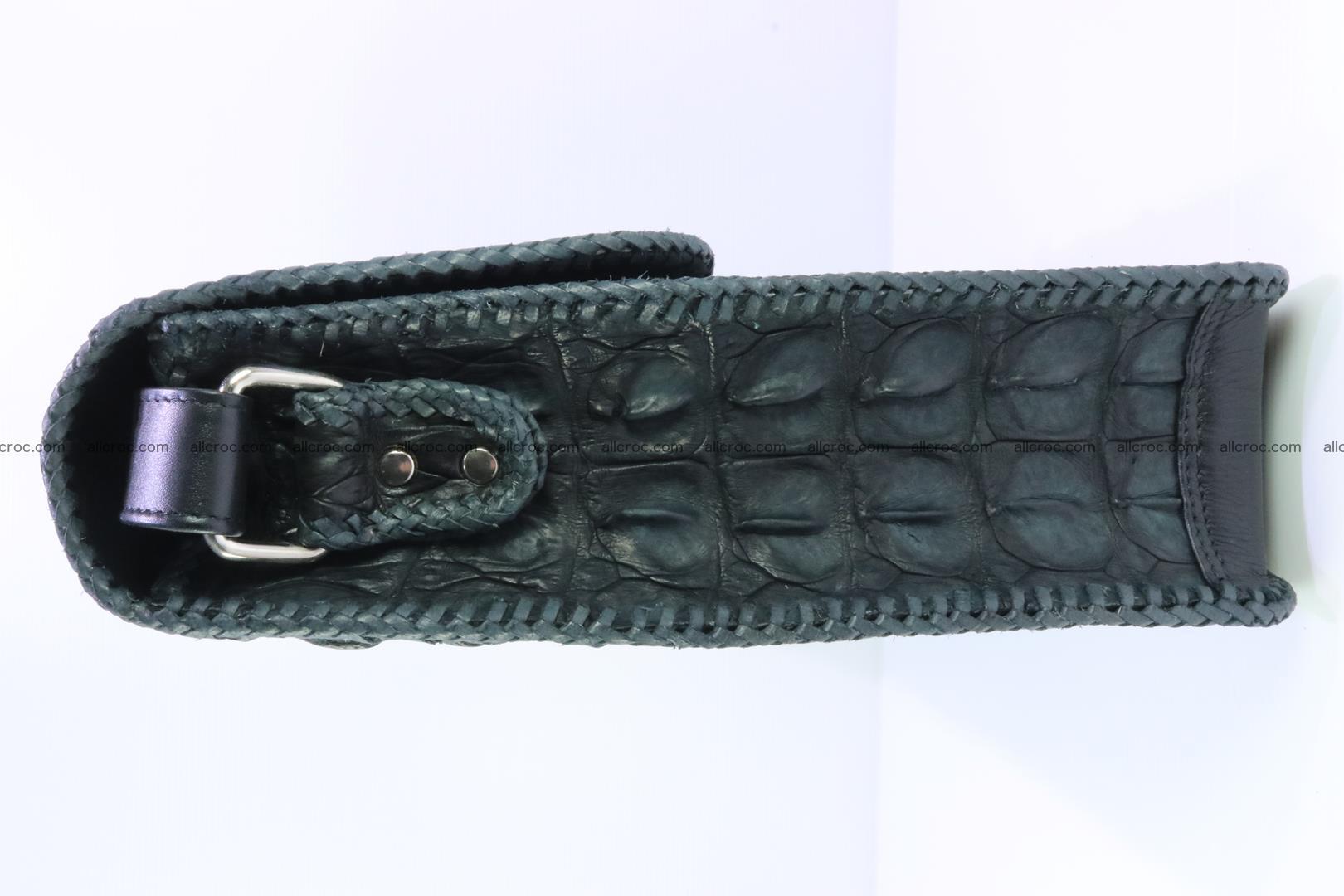 Crocodile skin shoulder bag with braided edges 146 Foto 4