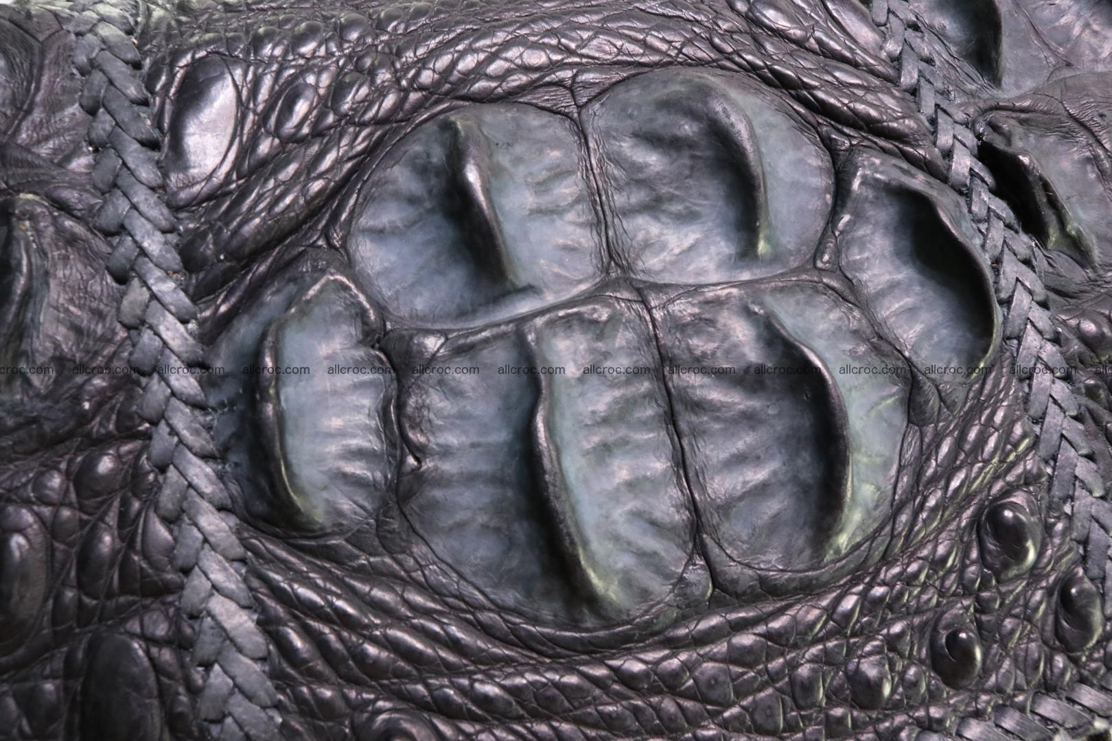 Crocodile skin shoulder bag with braided edges 146 Foto 10