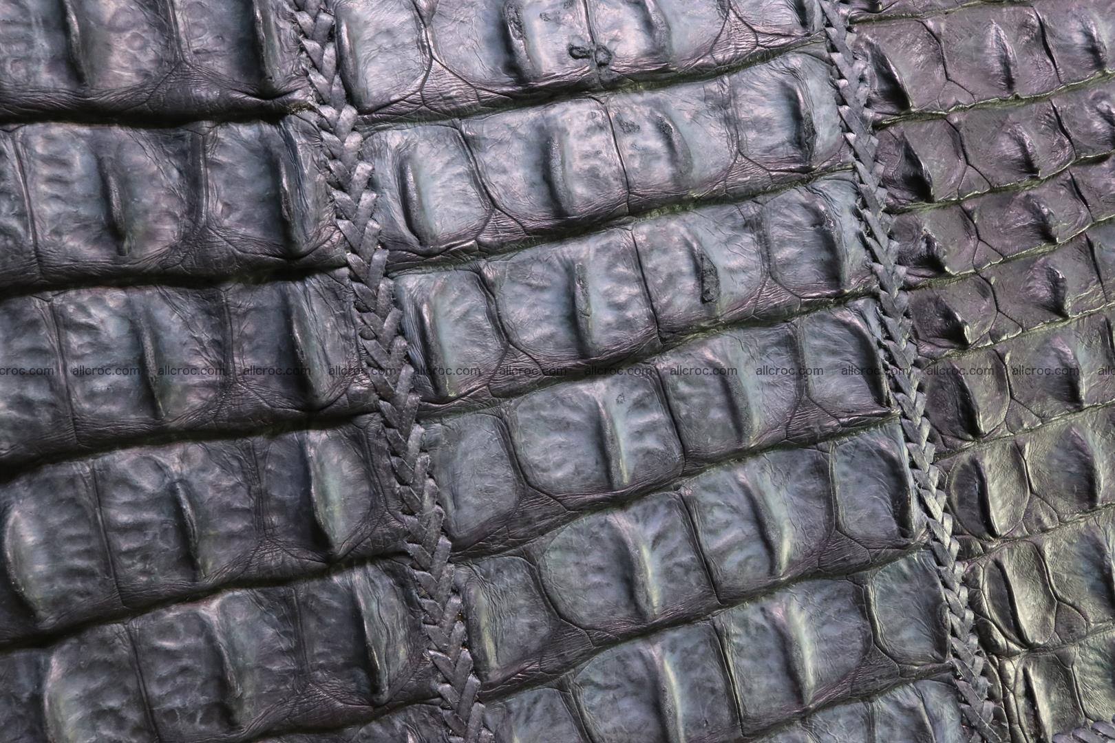 Crocodile skin shoulder bag with braided edges 146 Foto 14