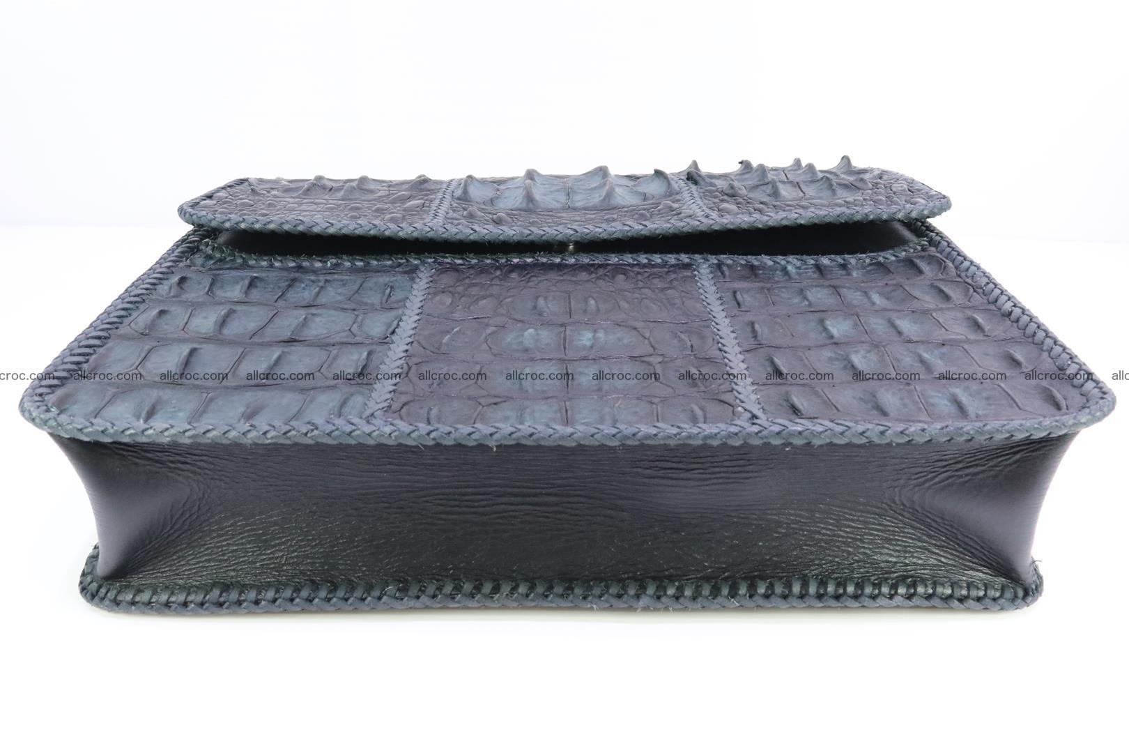 Crocodile skin shoulder bag with braided edges 146 Foto 6