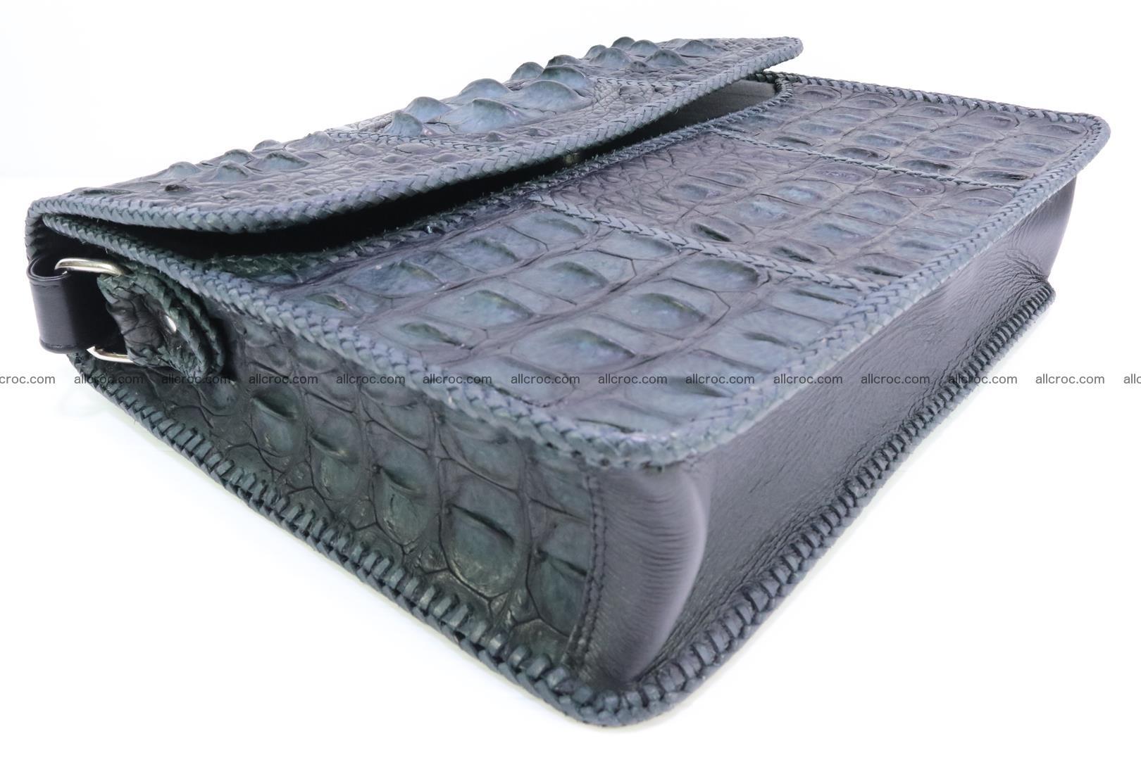 Crocodile skin shoulder bag with braided edges 146 Foto 7