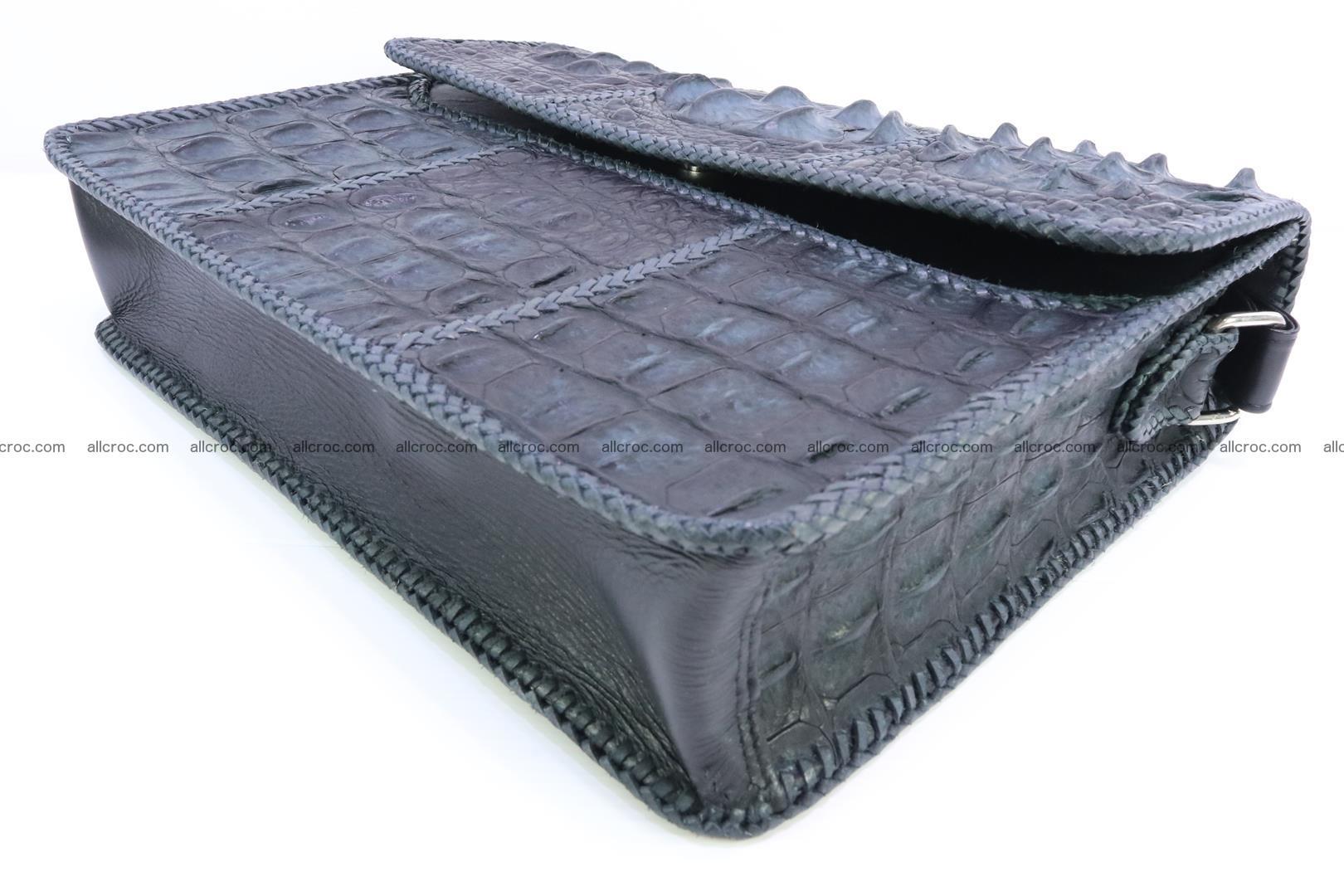 Crocodile skin shoulder bag with braided edges 146 Foto 8