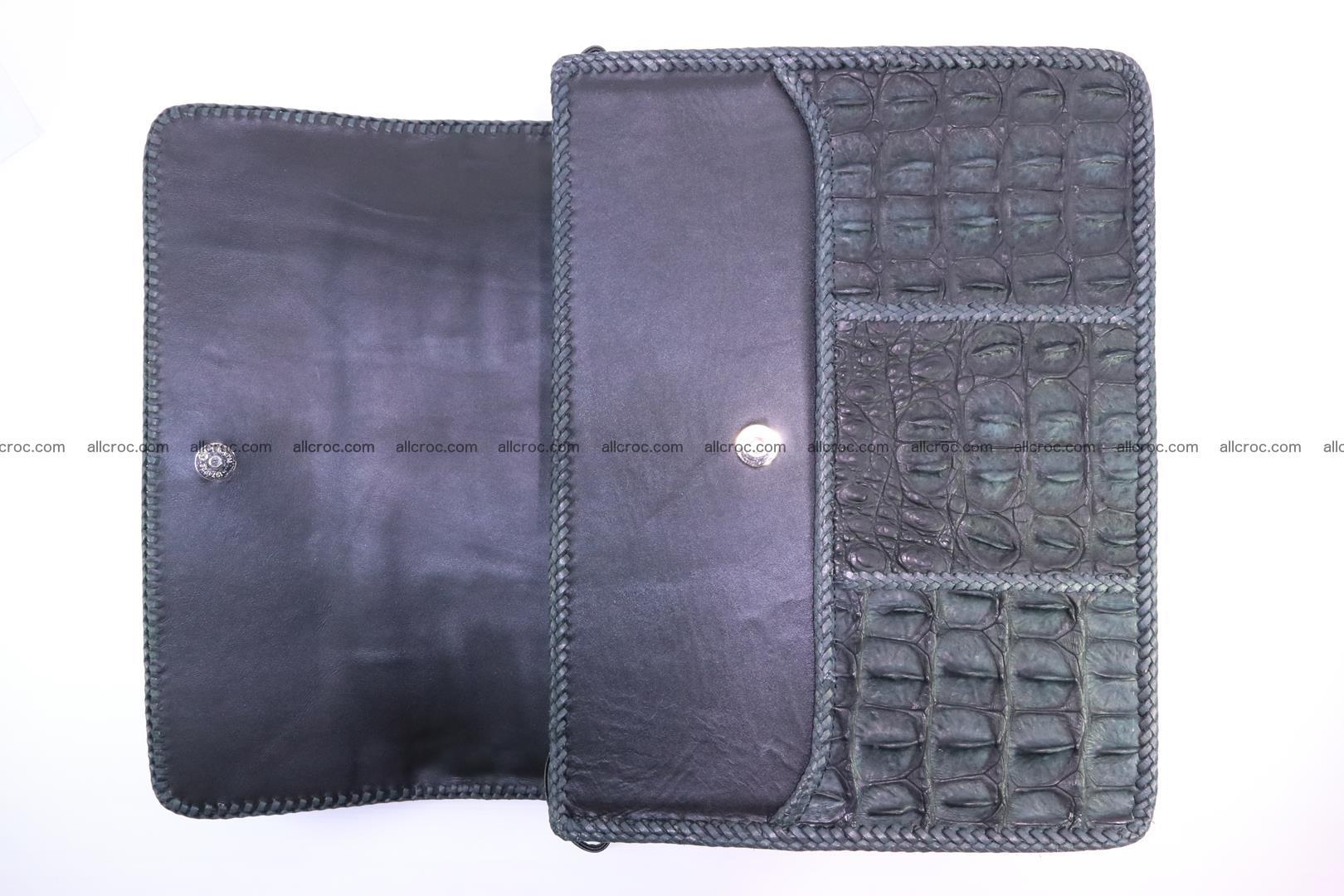 Crocodile skin shoulder bag with braided edges 146 Foto 9