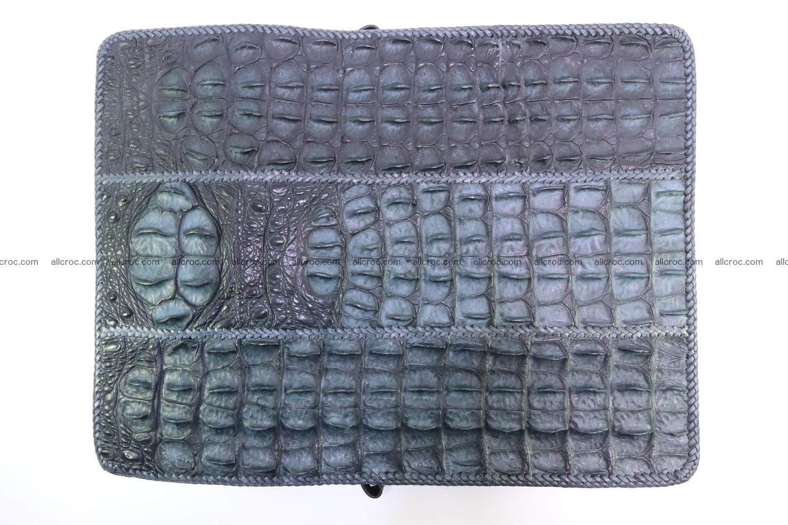 Crocodile skin shoulder bag with braided edges 146 Foto 13
