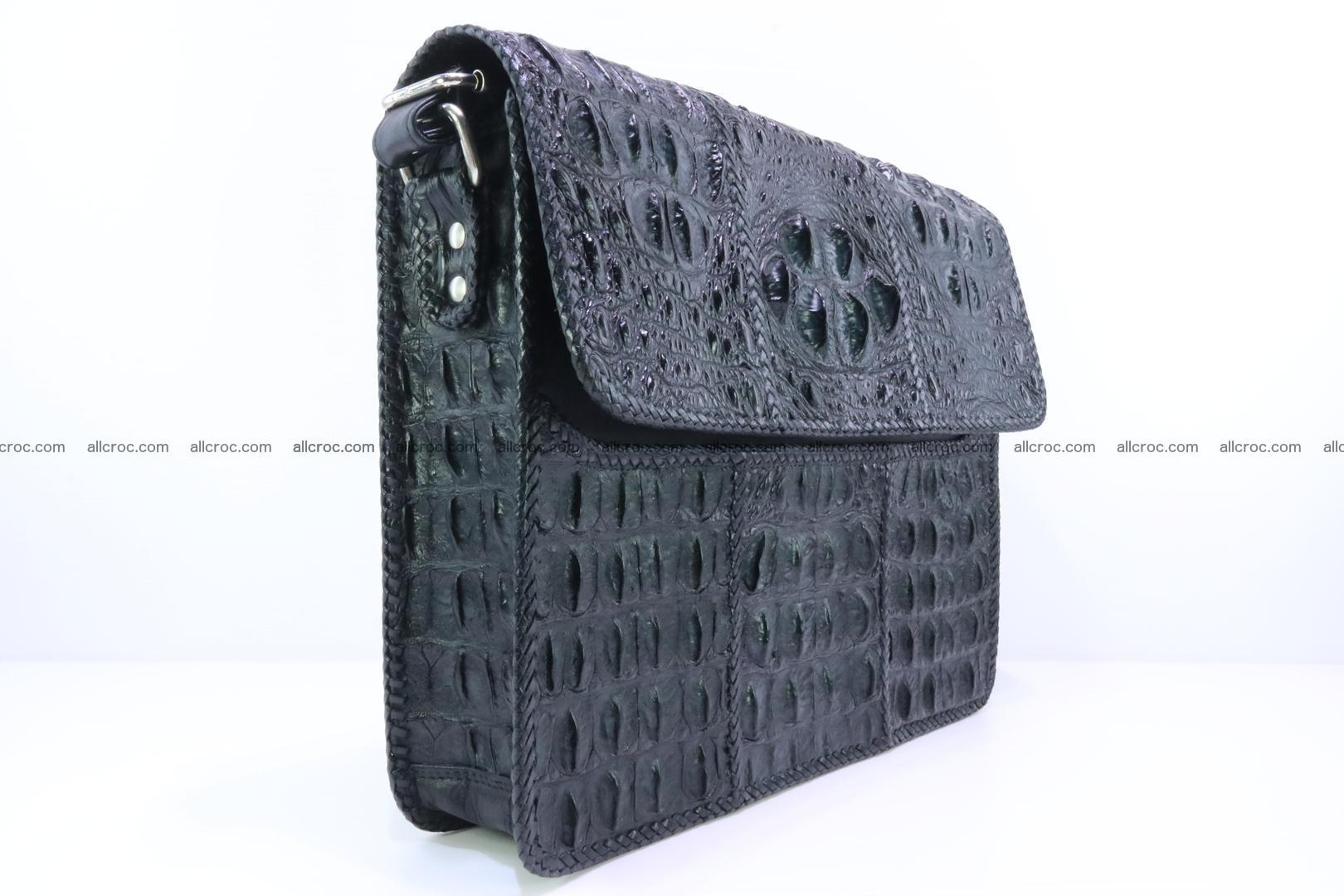 Crocodile skin shoulder bag with braided edges 147 Foto 2