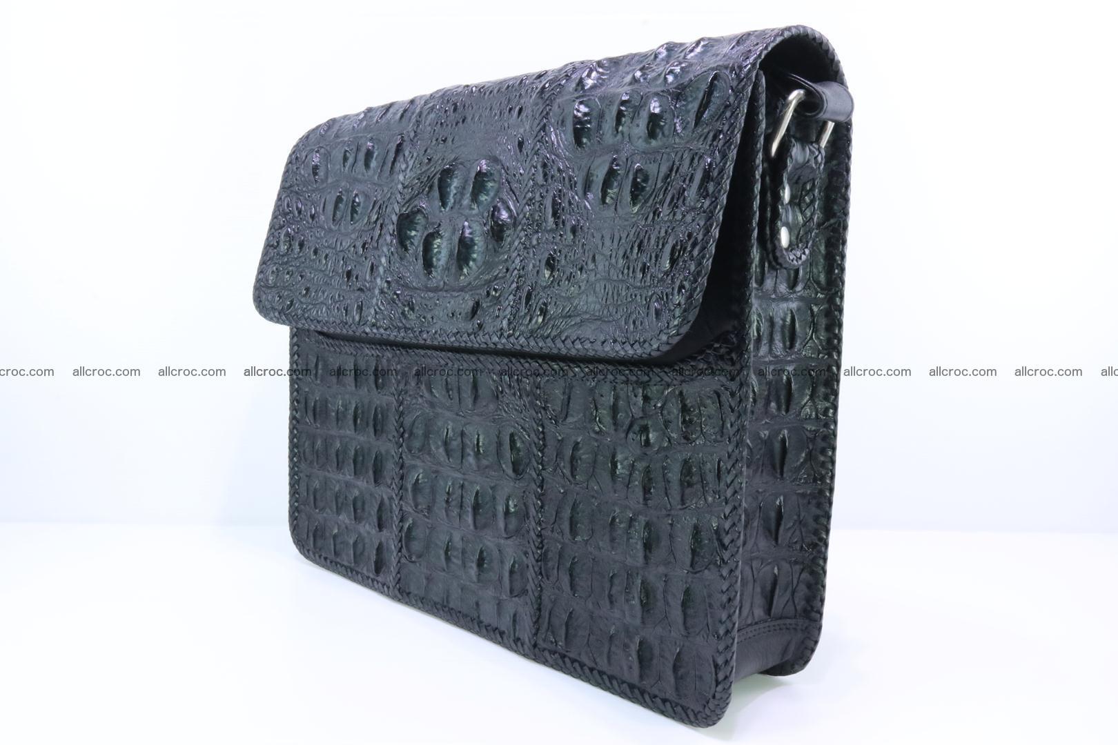 Crocodile skin shoulder bag with braided edges 147 Foto 3