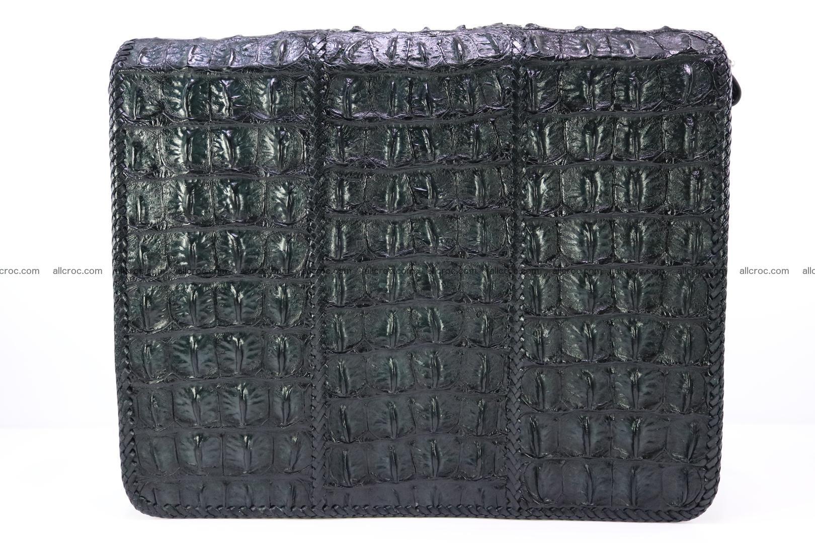 Crocodile skin shoulder bag with braided edges 147 Foto 1