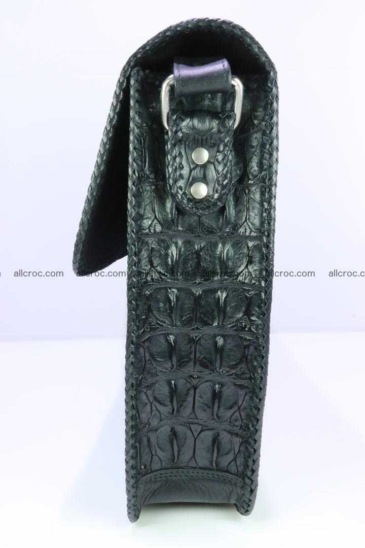 Crocodile skin shoulder bag with braided edges 147 Foto 10