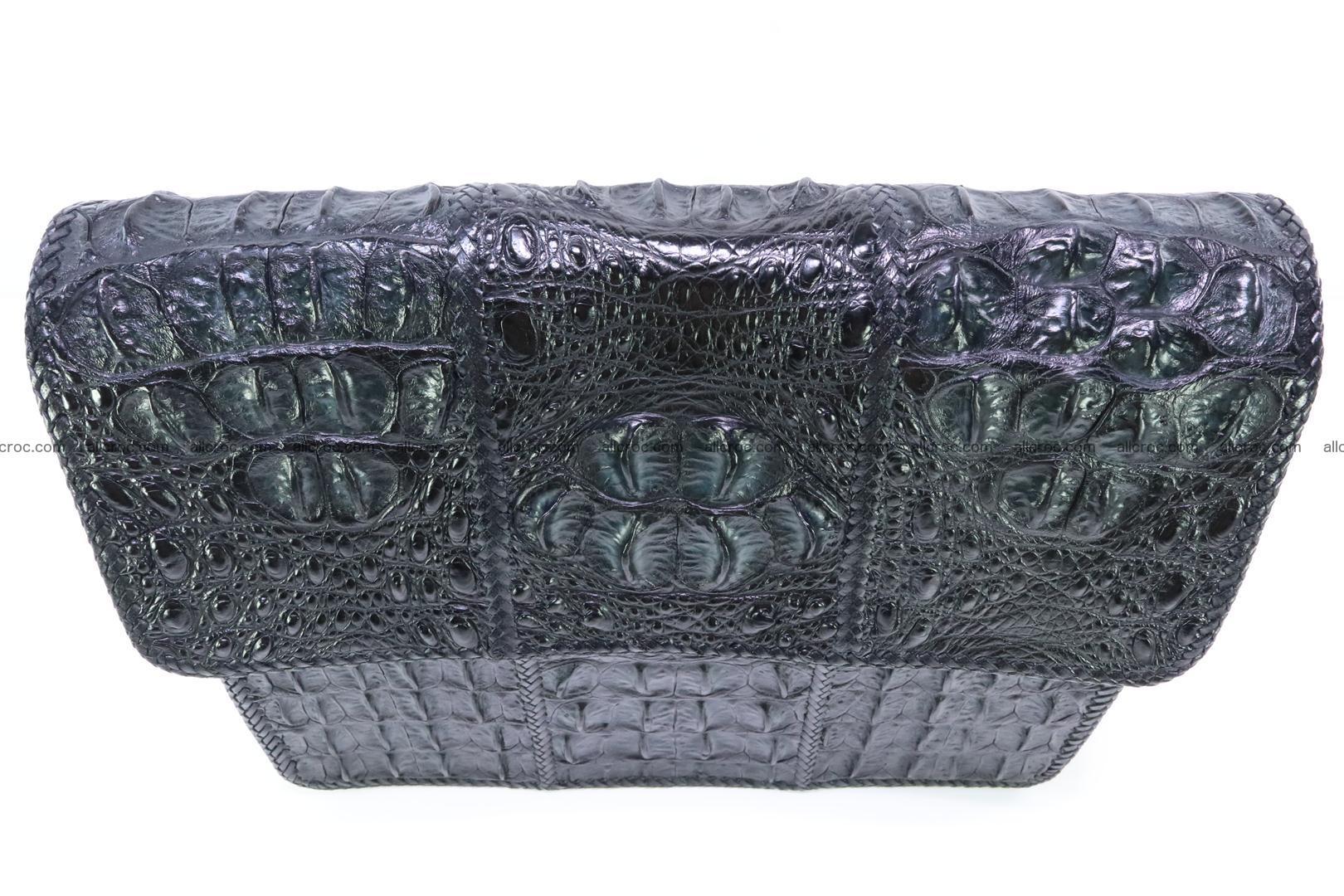 Crocodile skin shoulder bag with braided edges 147 Foto 9