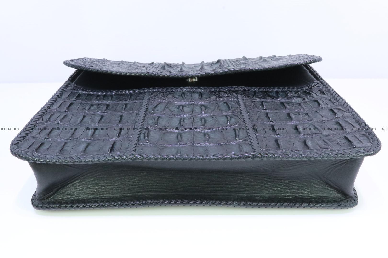 Crocodile skin shoulder bag with braided edges 147 Foto 6