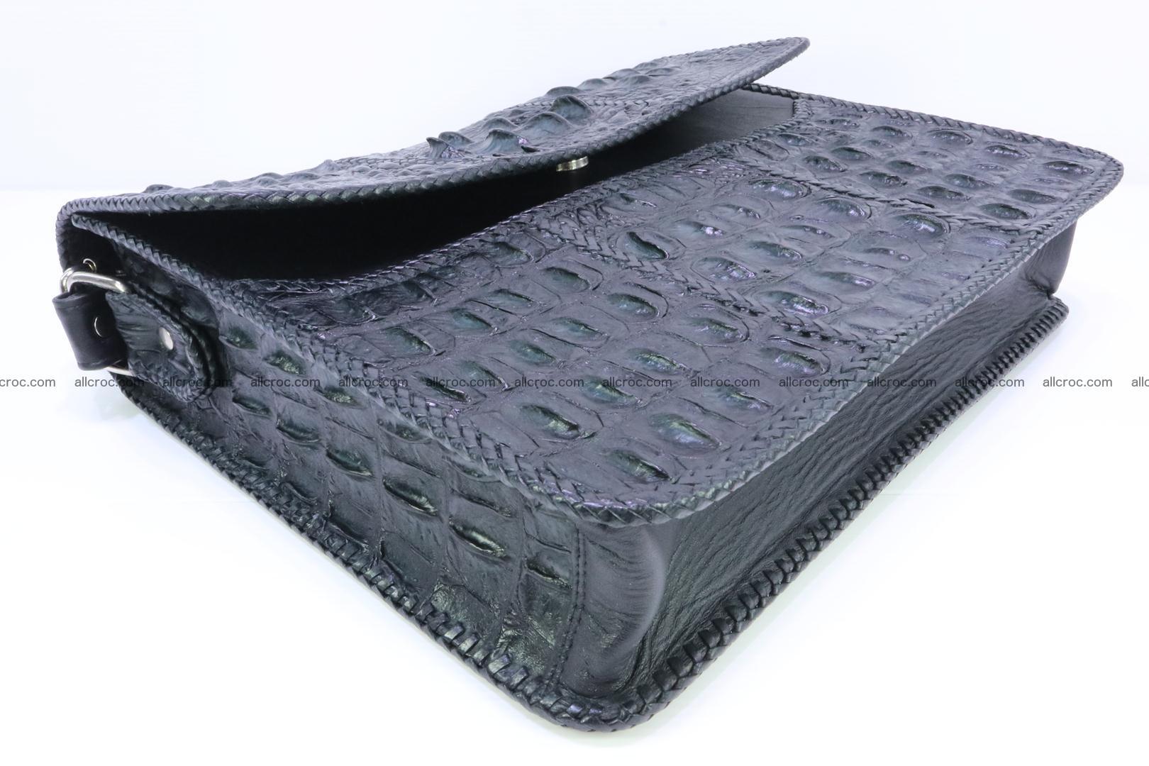 Crocodile skin shoulder bag with braided edges 147 Foto 7