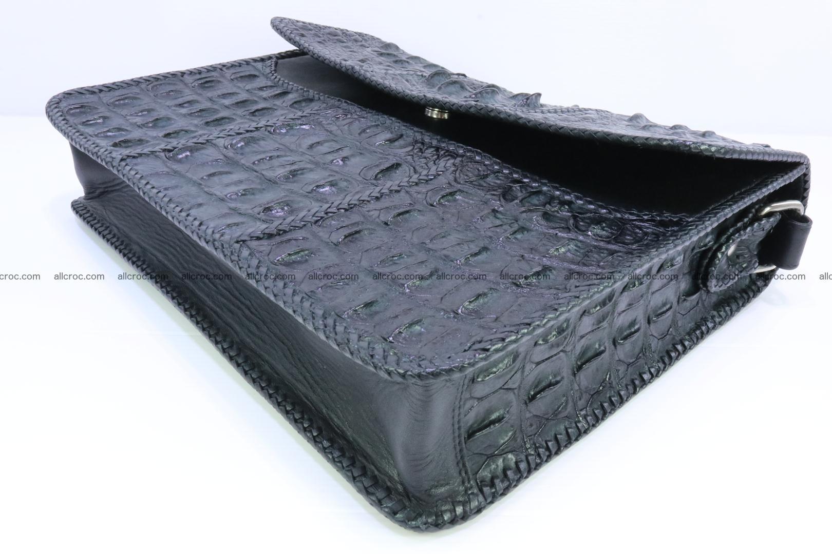 Crocodile skin shoulder bag with braided edges 147 Foto 8