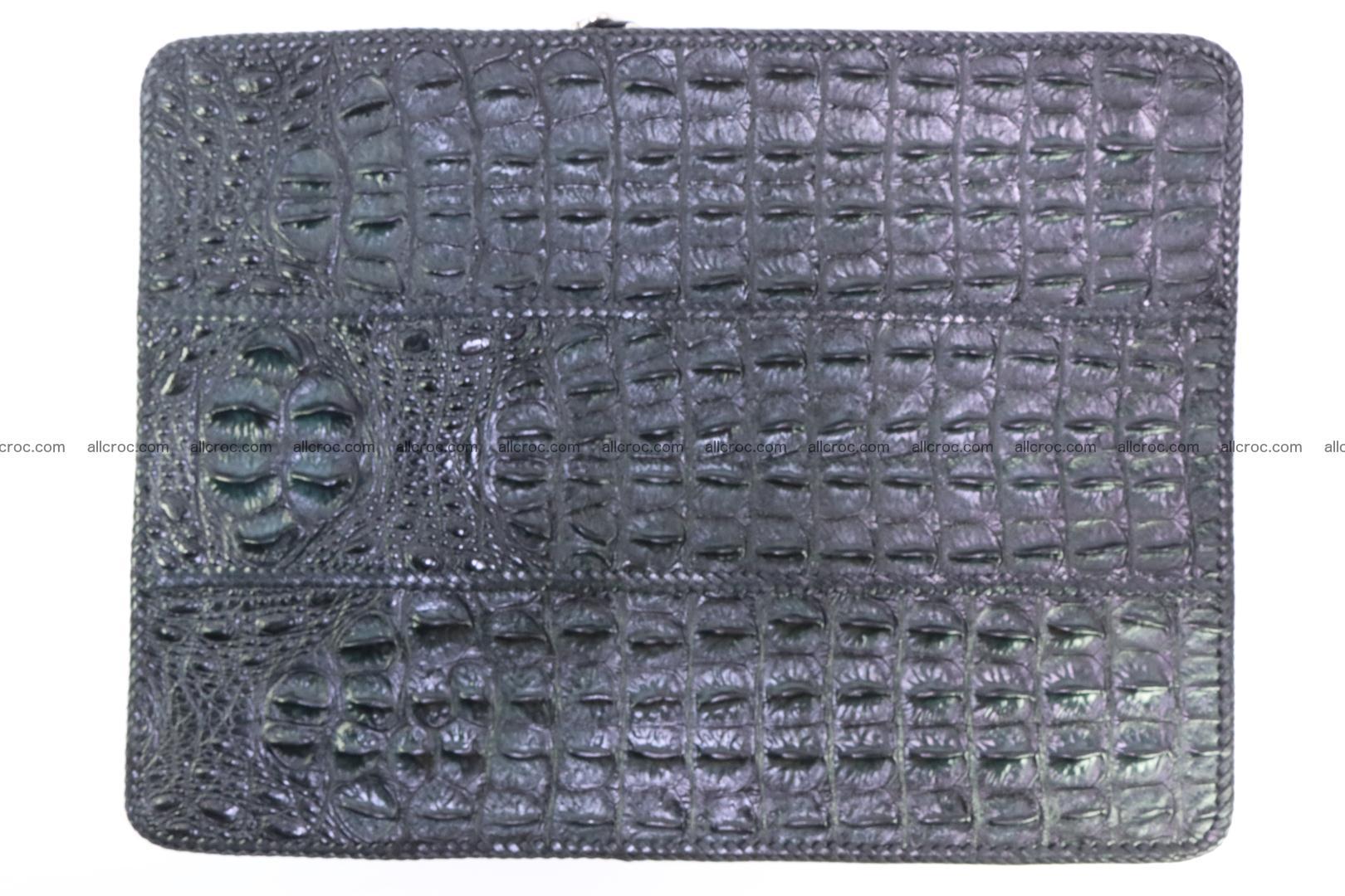 Crocodile skin shoulder bag with braided edges 147 Foto 12