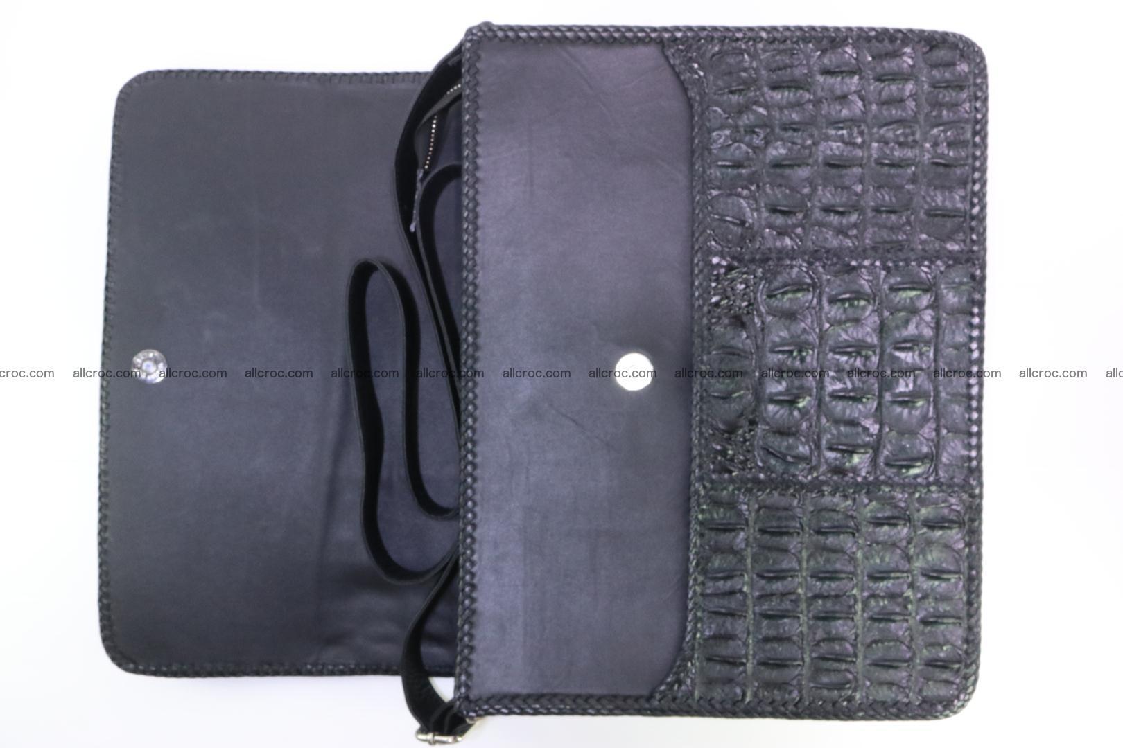Crocodile skin shoulder bag with braided edges 147 Foto 4