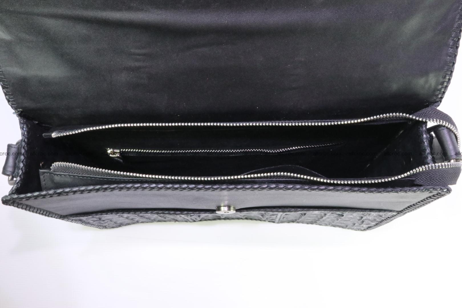 Crocodile skin shoulder bag with braided edges 147 Foto 5