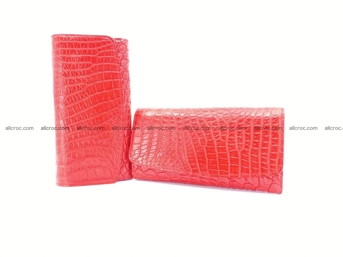 Genuine Crocodile skin trifold wallet, long wallet for women 455 Foto 10
