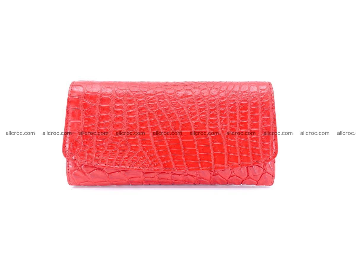 Genuine Crocodile skin trifold wallet, long wallet for women 455 Foto 0