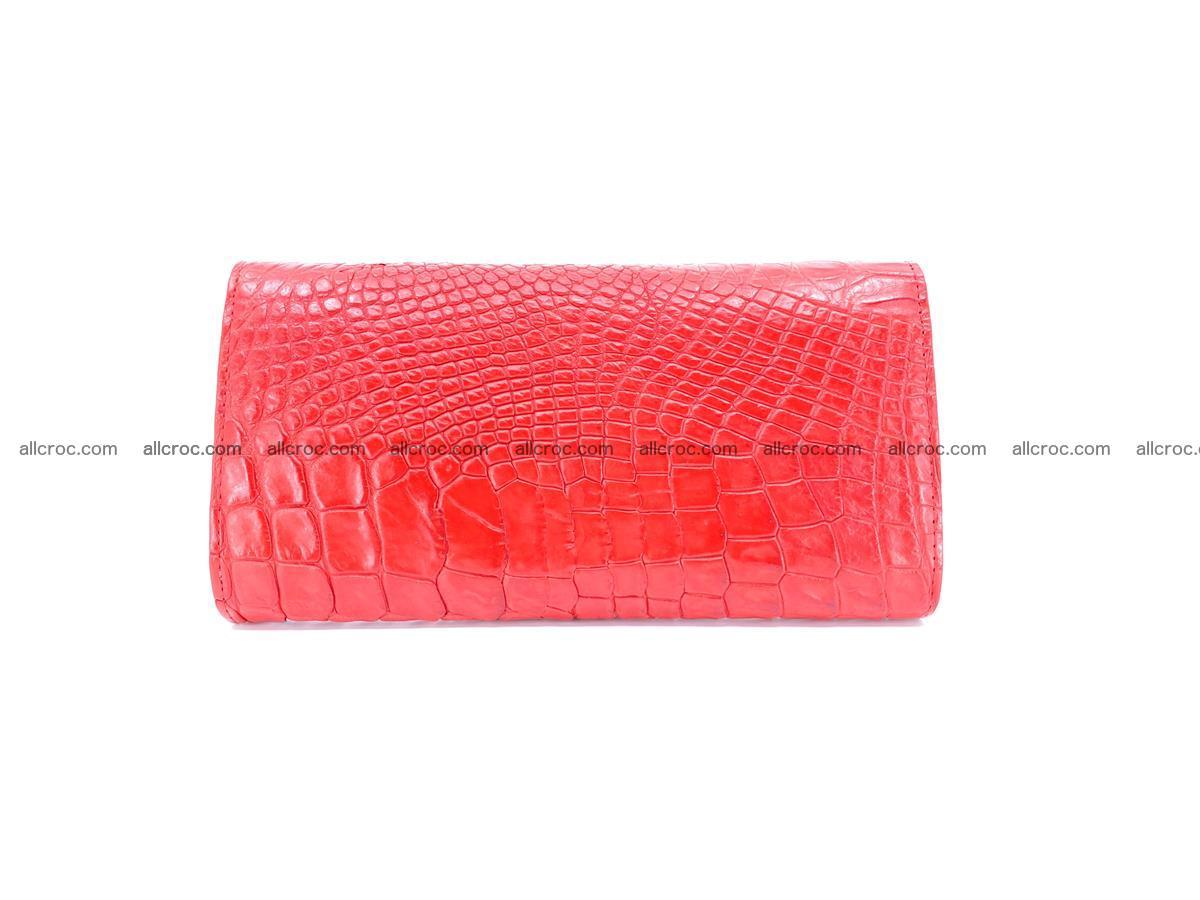 Genuine Crocodile skin trifold wallet, long wallet for women 455 Foto 1