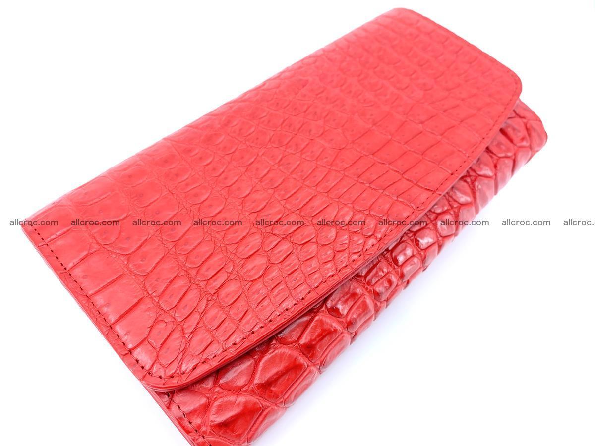 Genuine Crocodile skin trifold wallet, long wallet for women 455 Foto 2