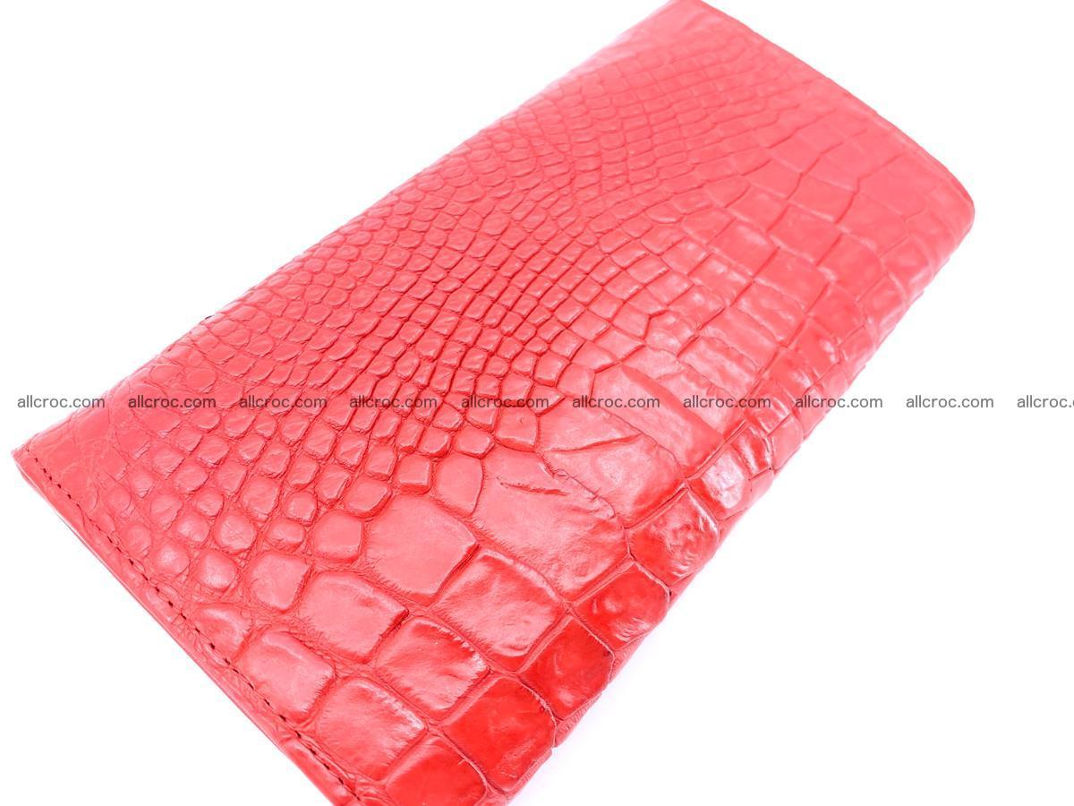 Genuine Crocodile skin trifold wallet, long wallet for women 455 Foto 3