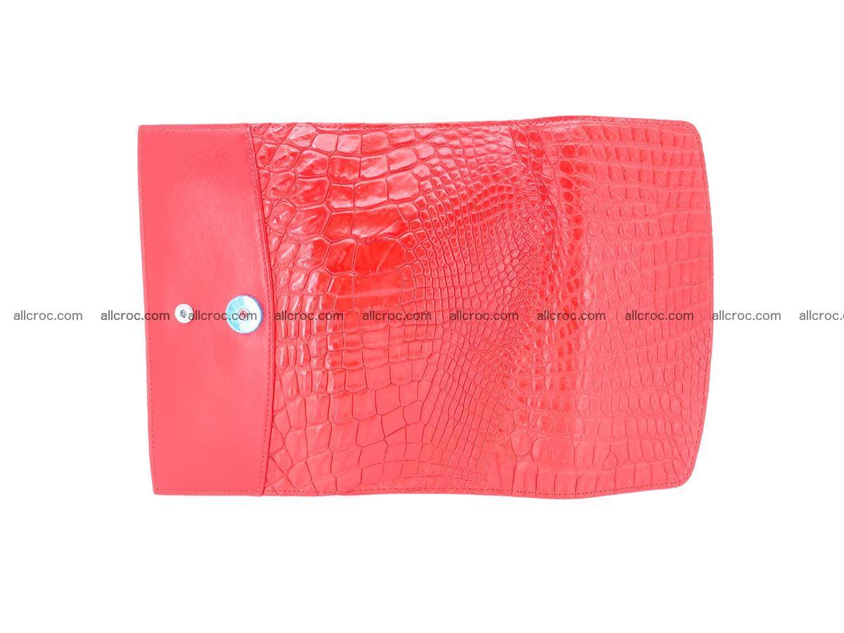 Genuine Crocodile skin trifold wallet, long wallet for women 455 Foto 7
