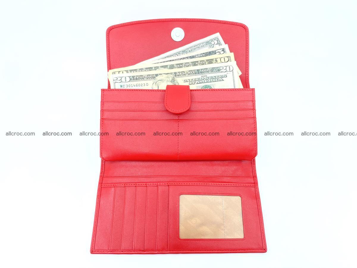 Genuine Crocodile skin trifold wallet, long wallet for women 455 Foto 4