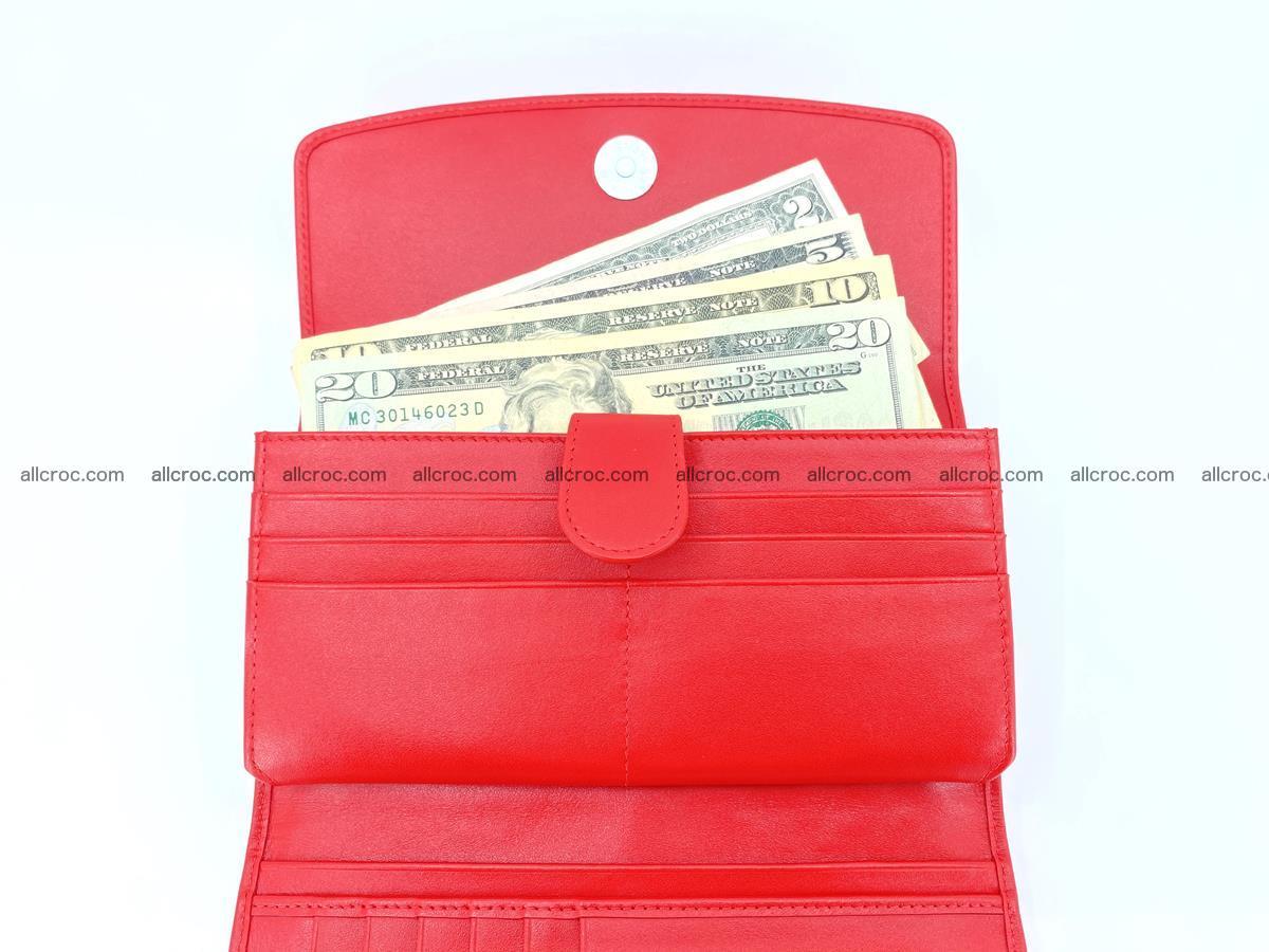 Genuine Crocodile skin trifold wallet, long wallet for women 455 Foto 5