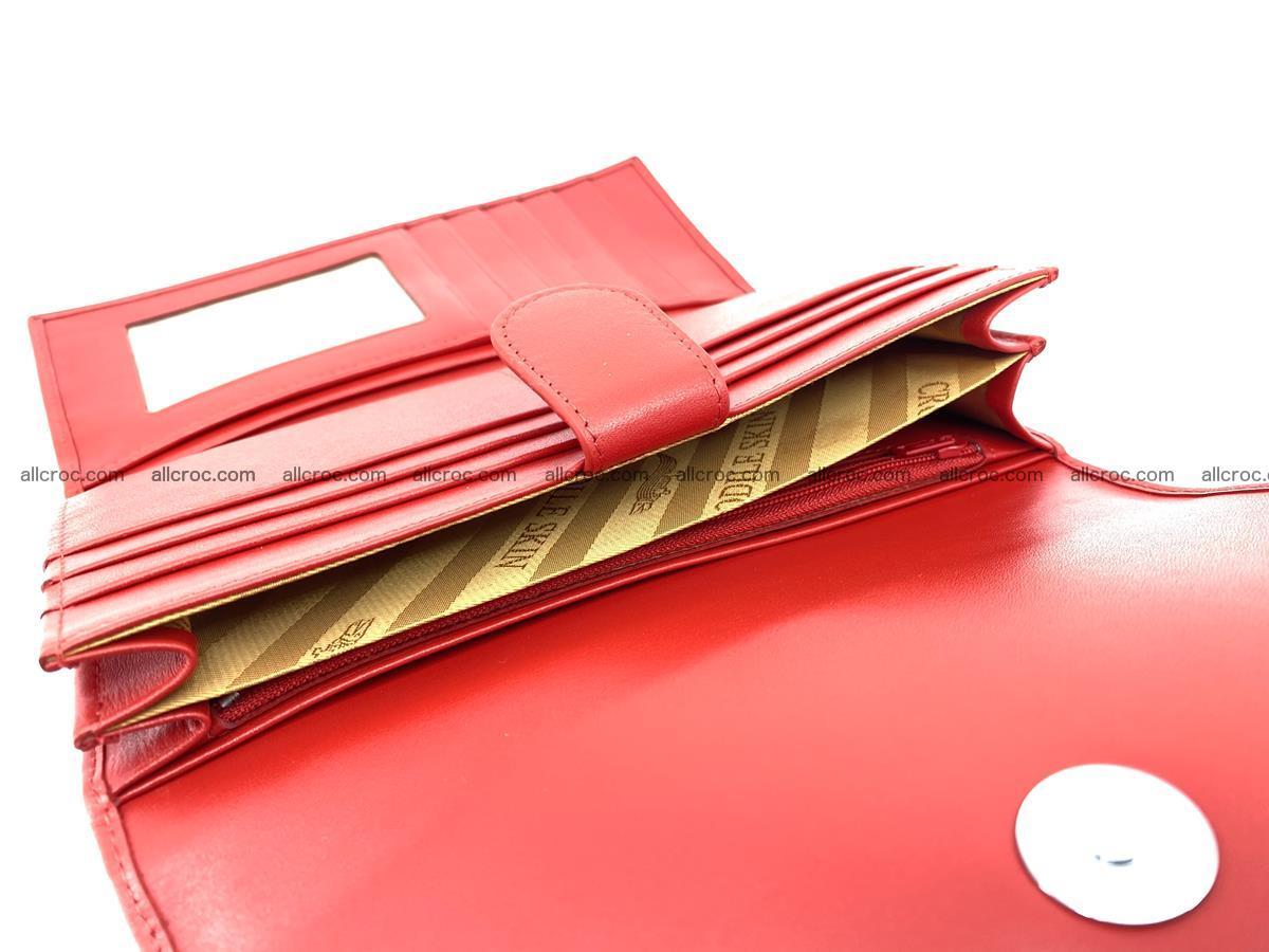Genuine Crocodile skin trifold wallet, long wallet for women 455 Foto 6