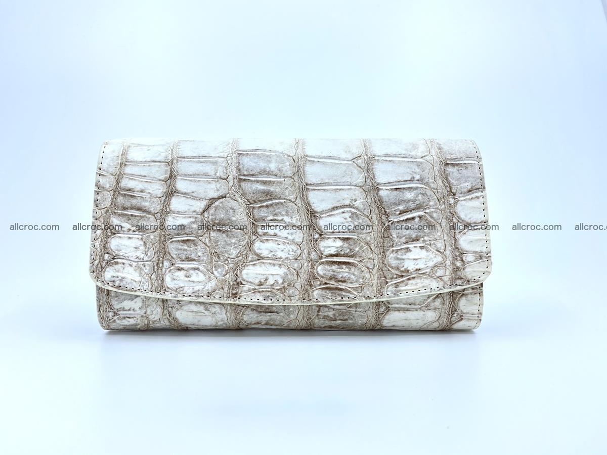Genuine Crocodile skin trifold wallet, long wallet for women 460 Foto 0