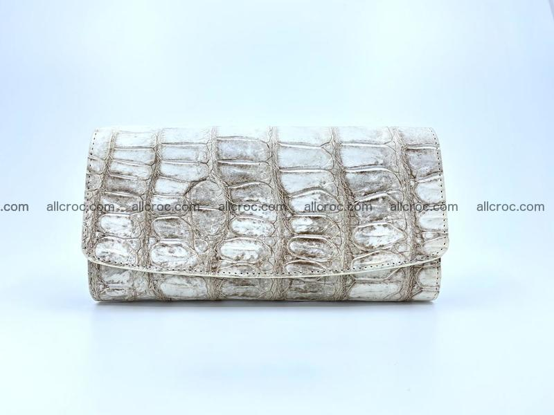 Genuine Crocodile skin trifold wallet, long wallet for women 460