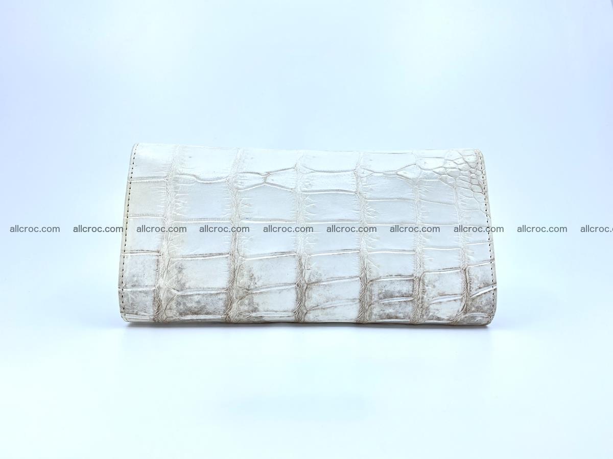 Genuine Crocodile skin trifold wallet, long wallet for women 460 Foto 1