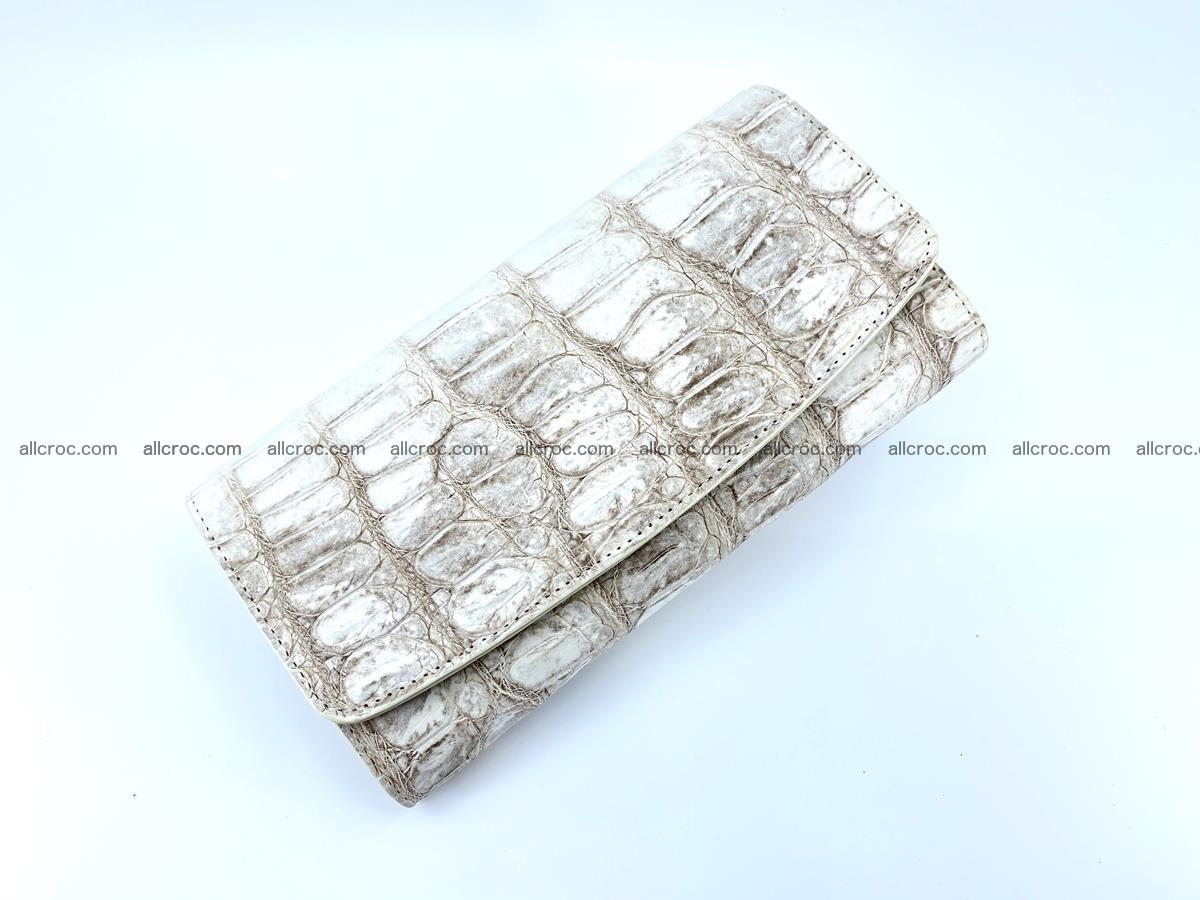 Genuine Crocodile skin trifold wallet, long wallet for women 460 Foto 2