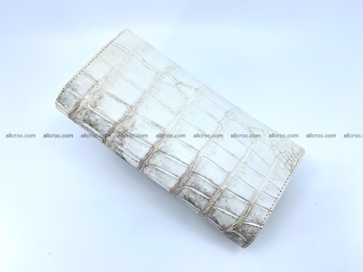 Genuine Crocodile skin trifold wallet, long wallet for women 460 Foto 3