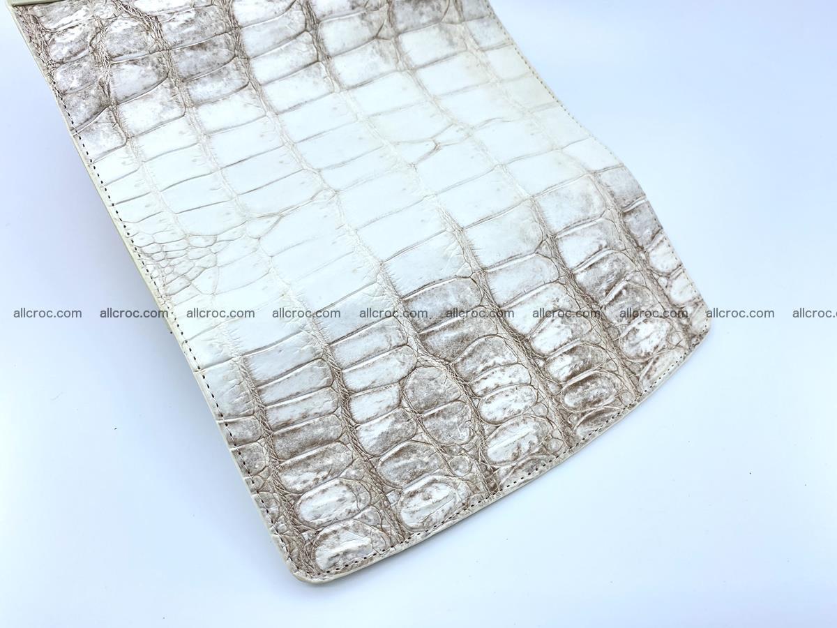Genuine Crocodile skin trifold wallet, long wallet for women 460 Foto 5