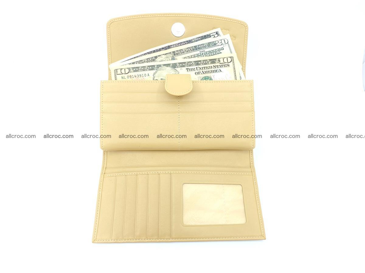 Genuine Crocodile skin trifold wallet, long wallet for women 476 Foto 4