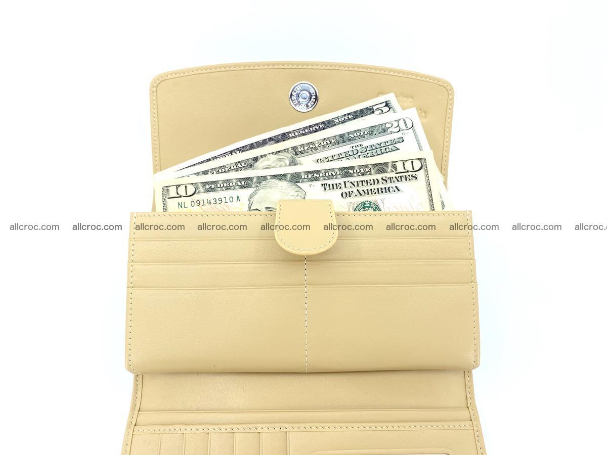 Genuine Crocodile skin trifold wallet, long wallet for women 476 Foto 5