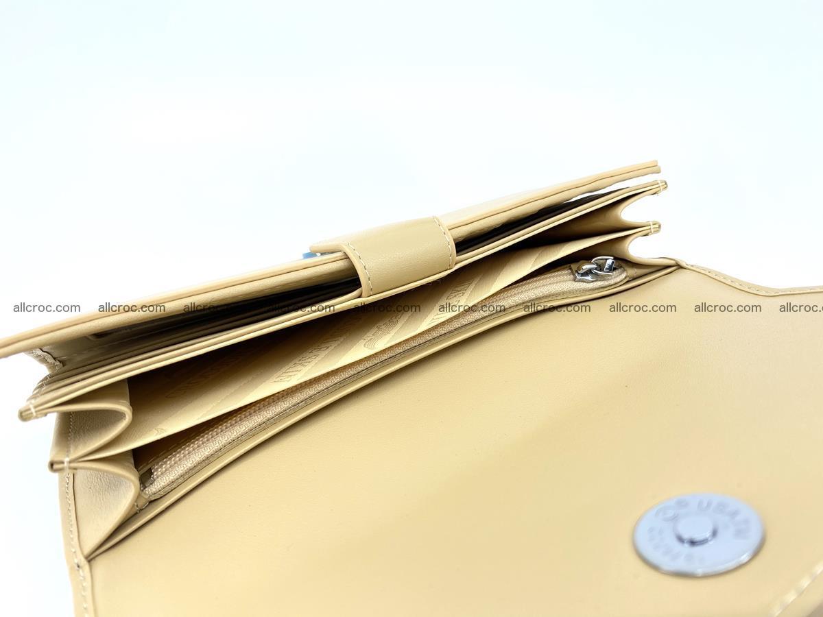 Genuine Crocodile skin trifold wallet, long wallet for women 476 Foto 6