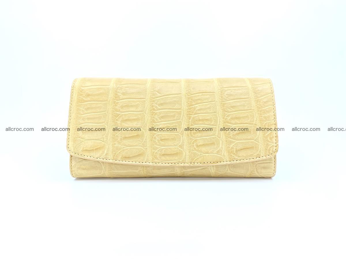 Genuine Crocodile skin trifold wallet, long wallet for women 476 Foto 0