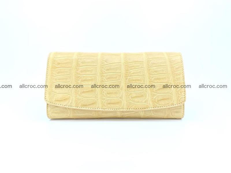 Genuine Crocodile skin trifold wallet, long wallet for women 476