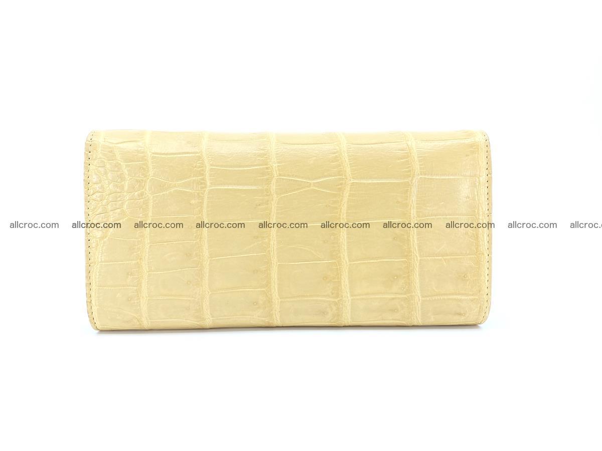 Genuine Crocodile skin trifold wallet, long wallet for women 476 Foto 1