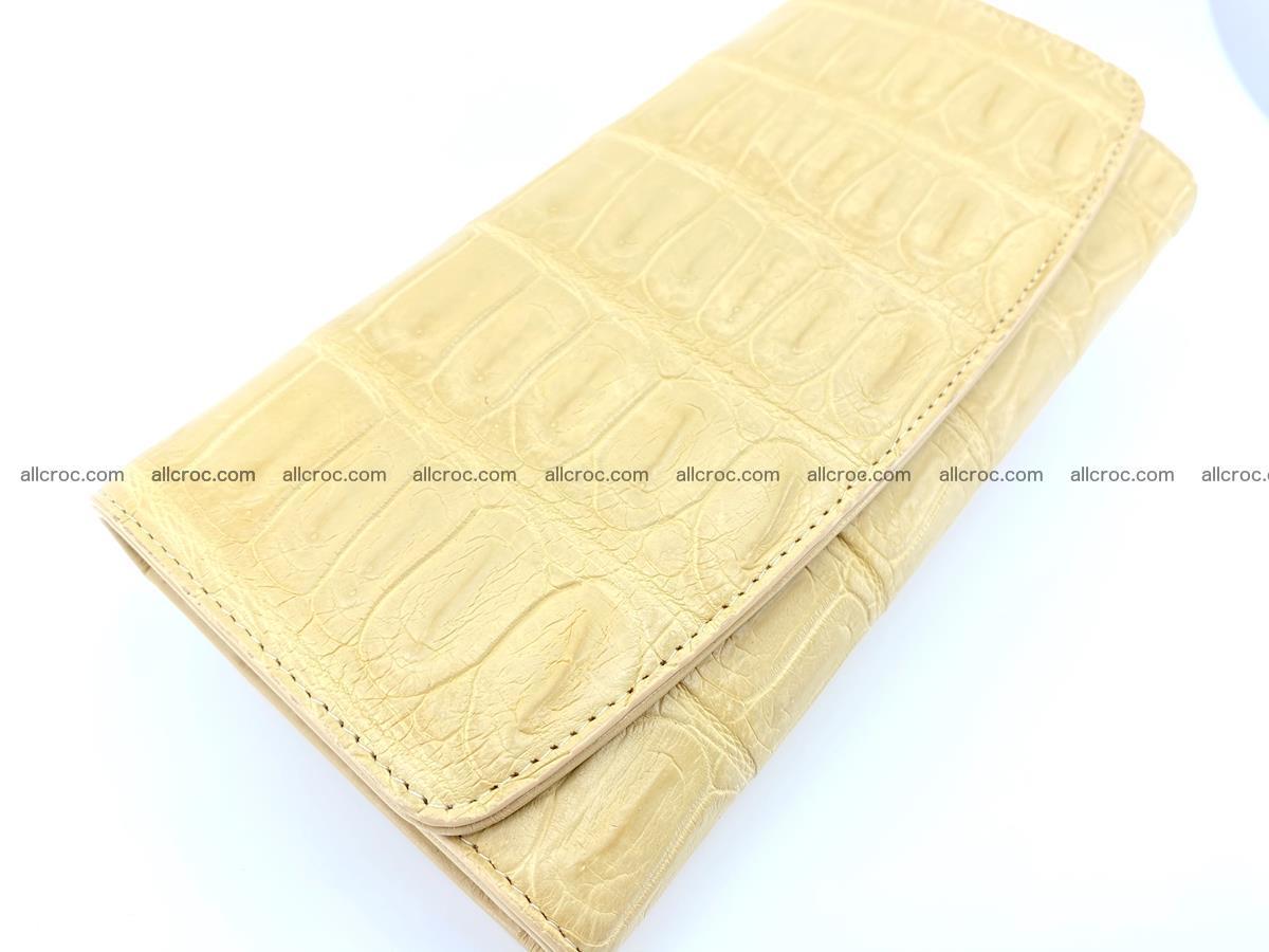 Genuine Crocodile skin trifold wallet, long wallet for women 476 Foto 2