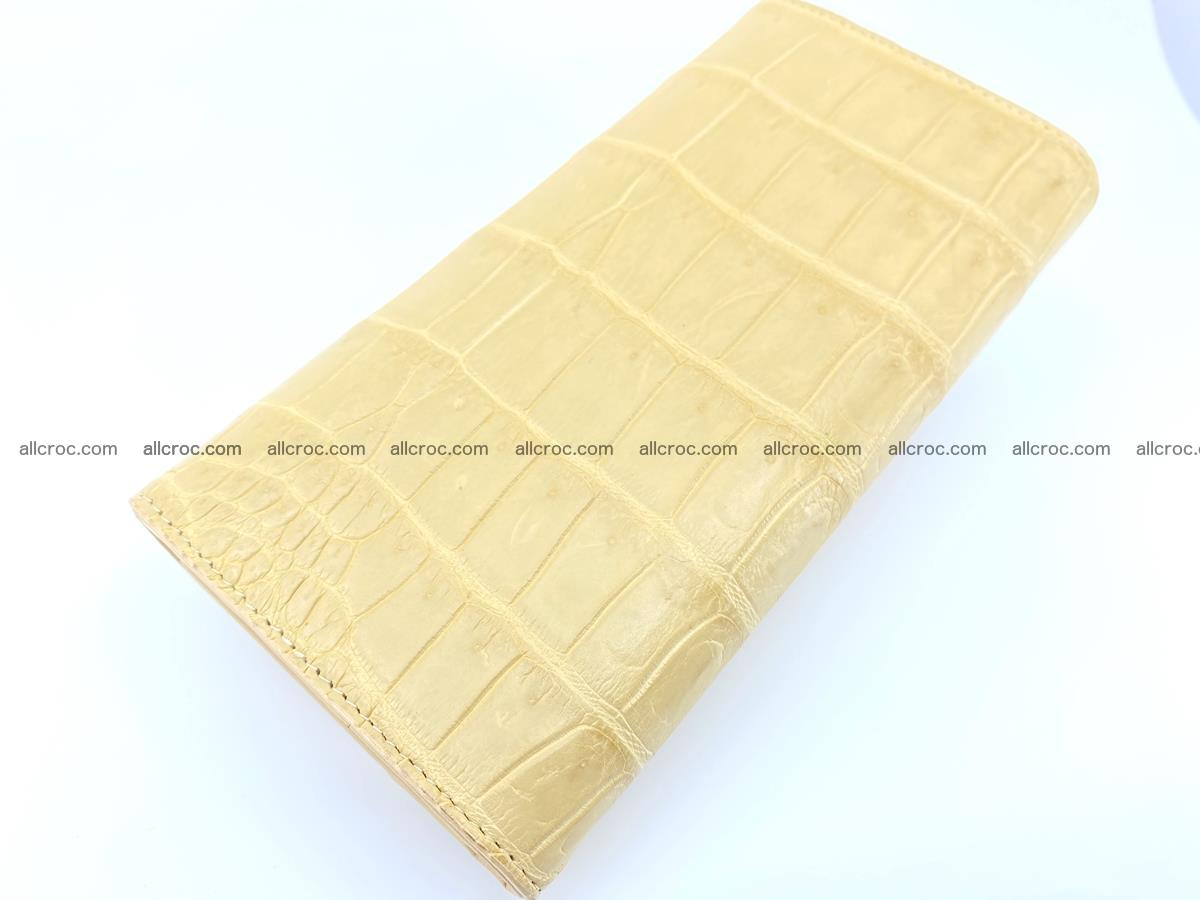 Genuine Crocodile skin trifold wallet, long wallet for women 476 Foto 3
