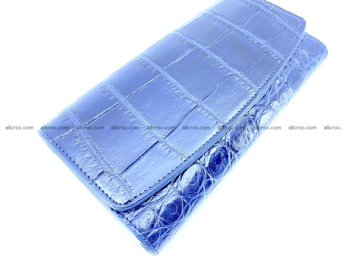 Genuine Crocodile skin trifold wallet, long wallet for women 471 Foto 2