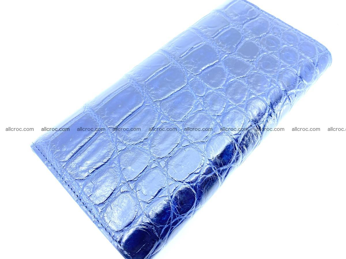 Genuine Crocodile skin trifold wallet, long wallet for women 471 Foto 3