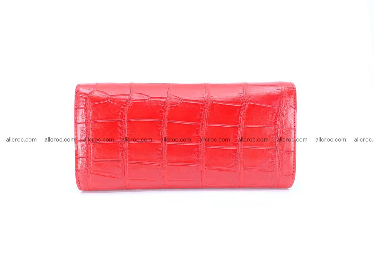 Genuine Crocodile skin trifold wallet, long wallet for women 456 Foto 1