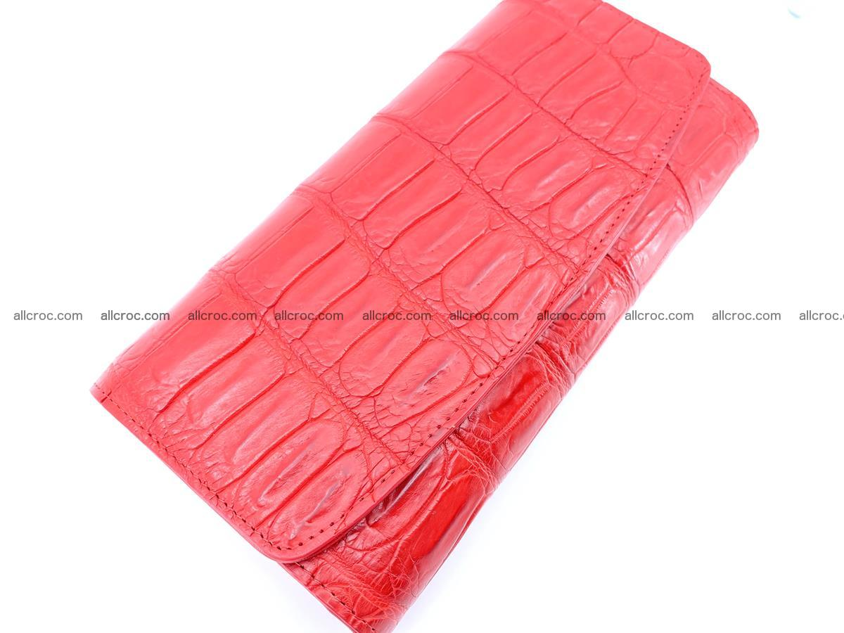 Genuine Crocodile skin trifold wallet, long wallet for women 456 Foto 2