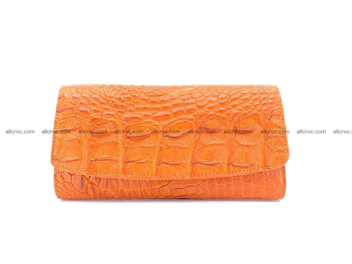 Genuine Crocodile skin trifold wallet, long wallet for women 481 Foto 0