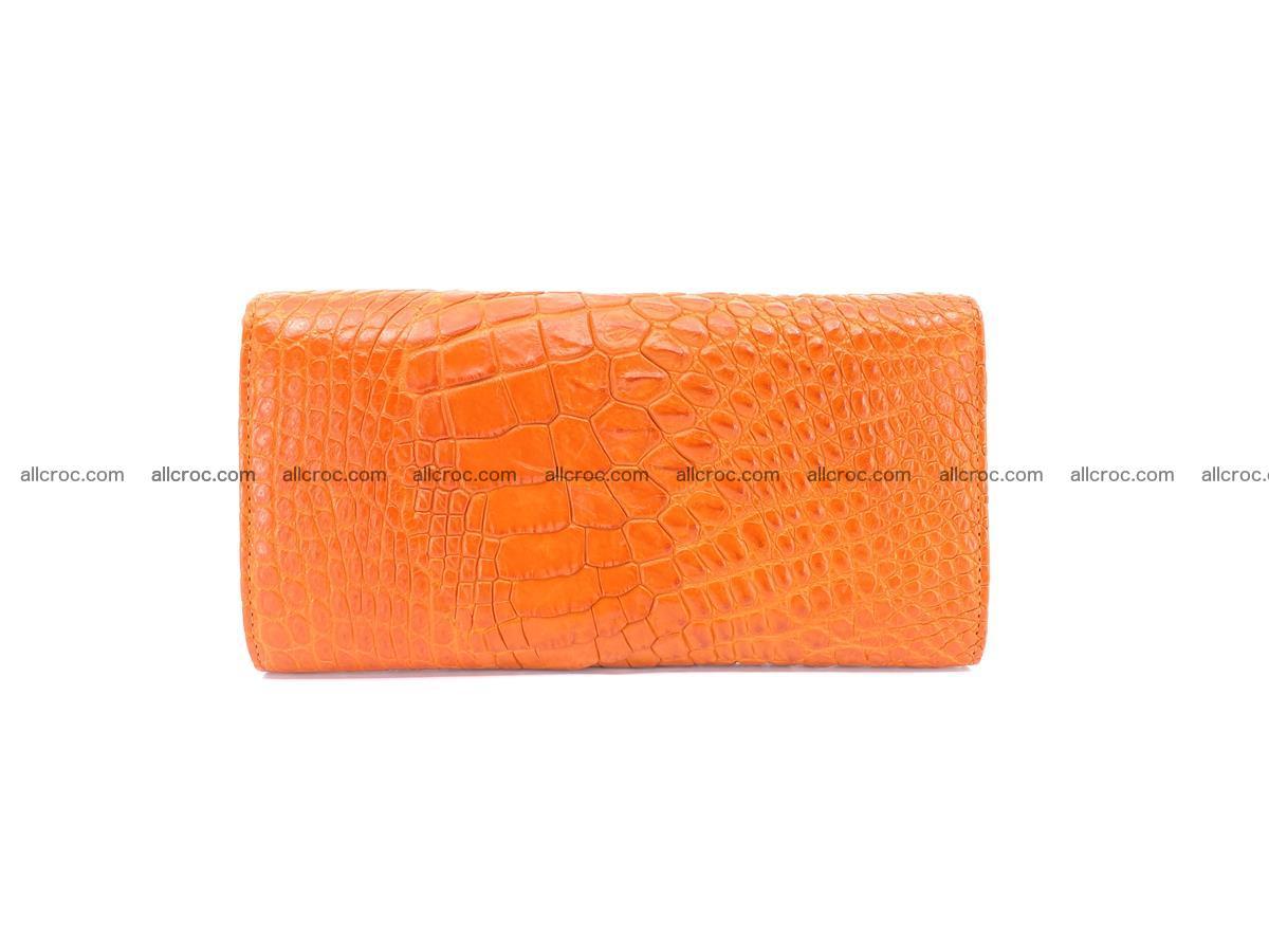 Genuine Crocodile skin trifold wallet, long wallet for women 481 Foto 1