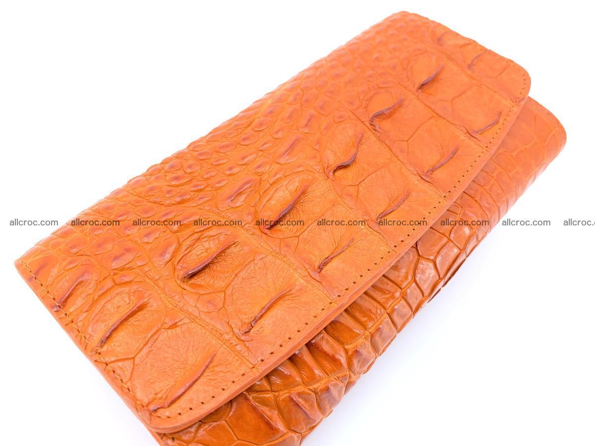 Genuine Crocodile skin trifold wallet, long wallet for women 481 Foto 2