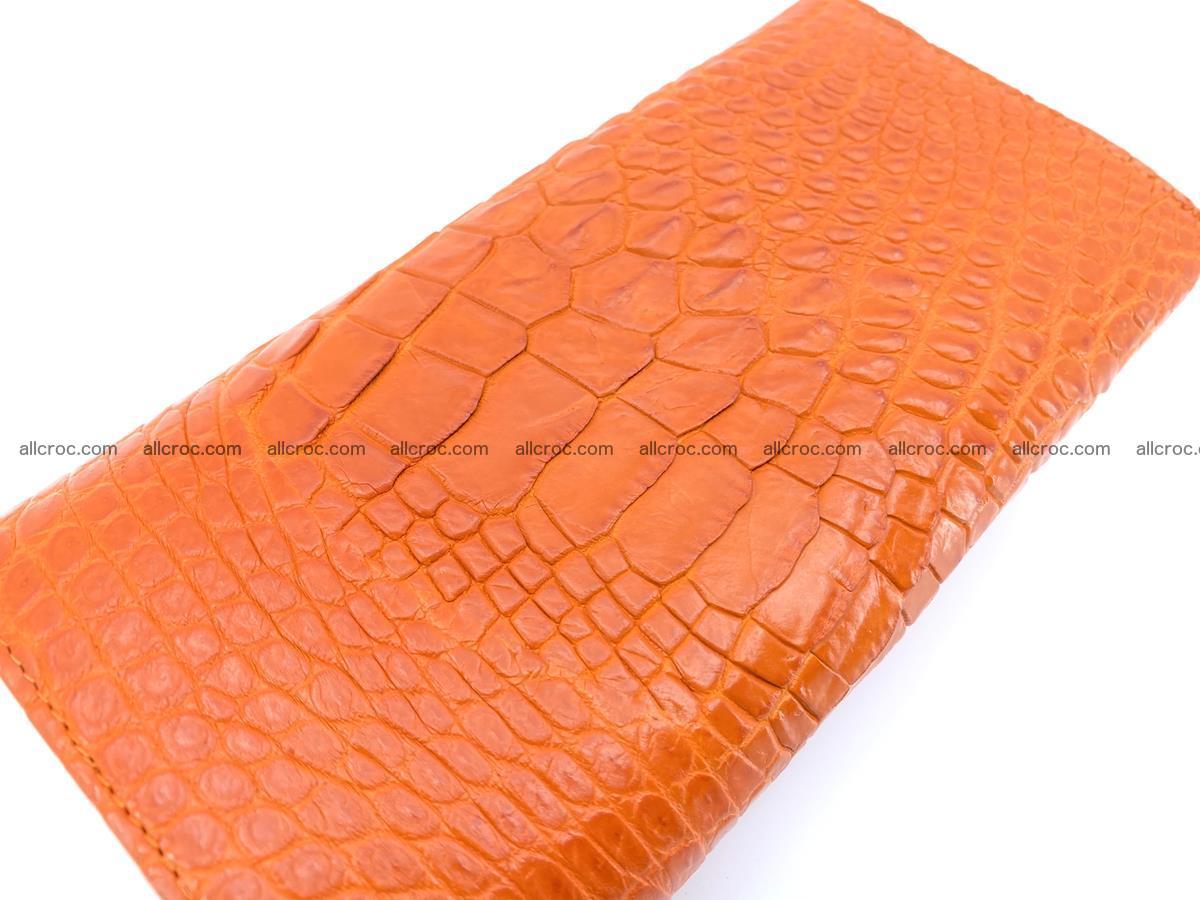 Genuine Crocodile skin trifold wallet, long wallet for women 481 Foto 3